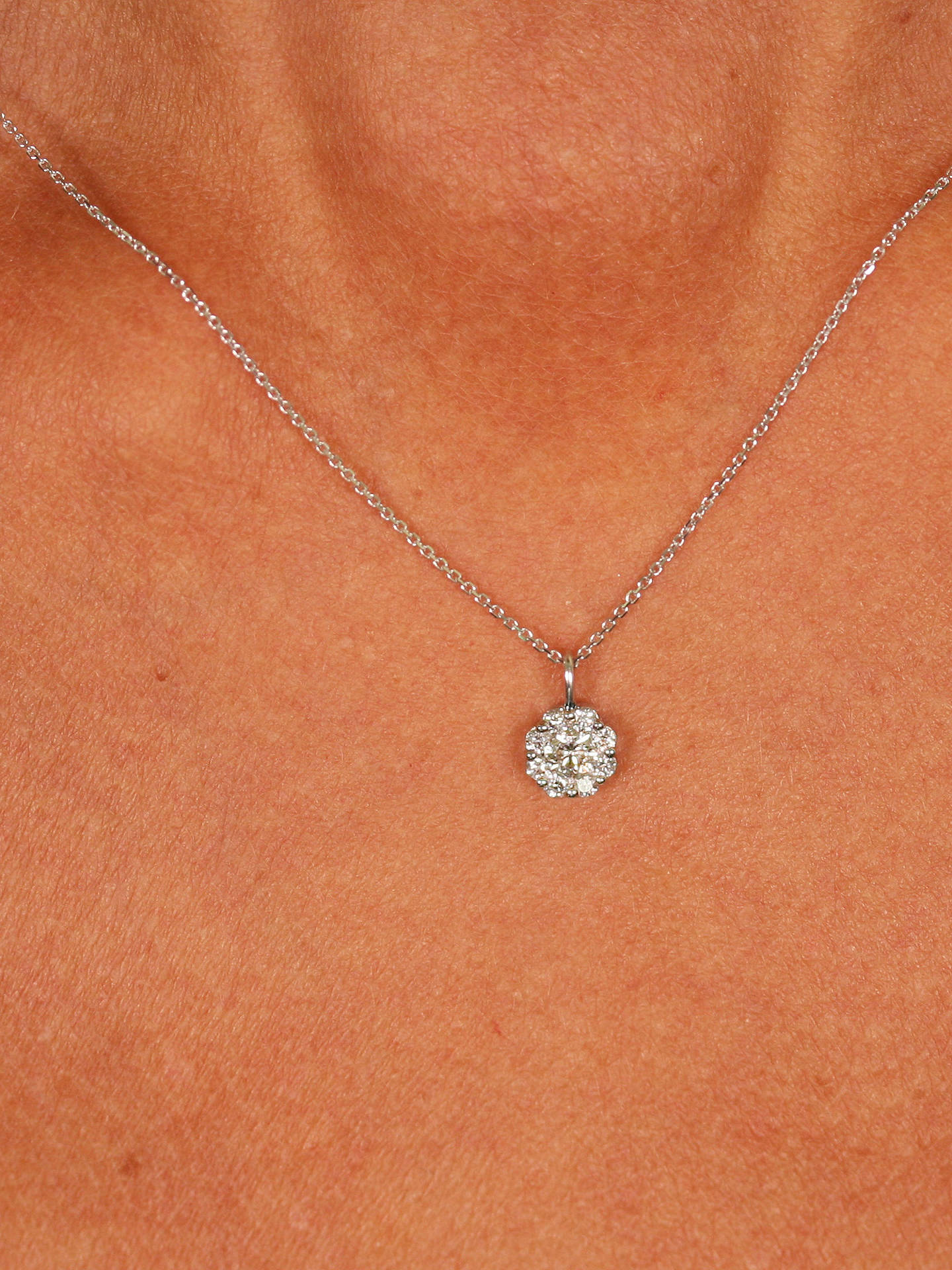 BuyBrown & Newirth 9ct White Gold Diamond Pendant Necklace, 0.30ct Online at johnlewis.com