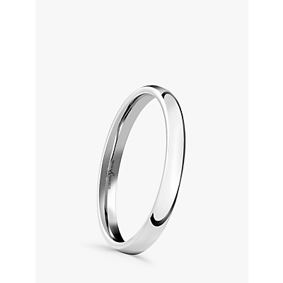 Image of Brown & Newirth 18ct White Gold 2mm Court Shape Wedding Ring