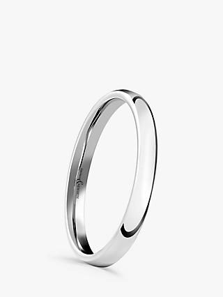 Brown & Newirth 18ct White Gold 2mm Court Shape Wedding Ring