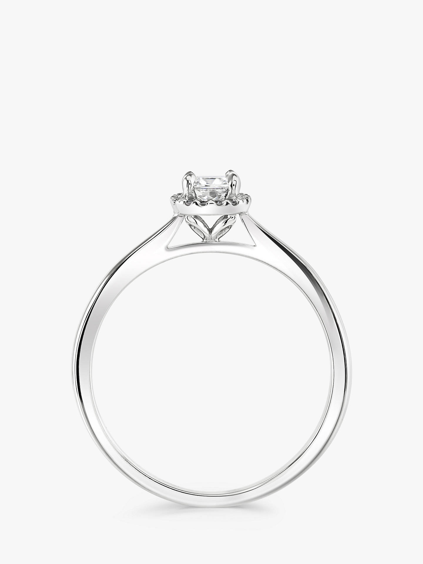 BuyBrown & Newirth Platinum Cushion Cut Diamond Engagement Ring, 0.28ct Online at johnlewis.com