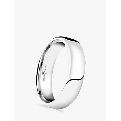 Image of Brown & Newirth Men's Platinum 5mm Softened Court Shape Wedding Ring, S