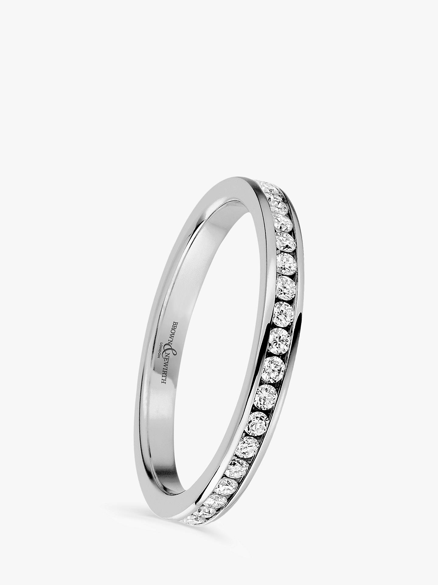 Buy Brown & Newirth Platinum Diamond Eternity Ring, 0.50ct Online at johnlewis.com