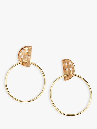 Nectar Nectar Large Textured Hoop Drop Earrings, Gold