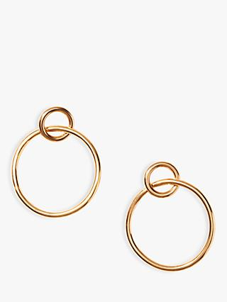 Nectar Nectar Link Hoop Drop Earrings, Gold