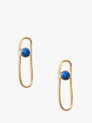 Nectar Nectar Lapis Lazuli Long Oval Drop Earrings, Gold/Blue