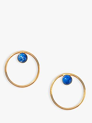 Nectar Nectar Lapis Lazuli Circle Drop Earrings, Gold/Blue