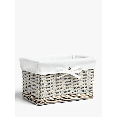 John Lewis & Partners Wicker Coastal Basket