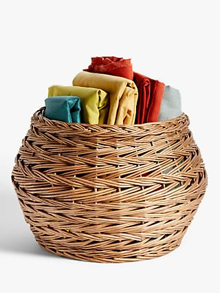 Croft Collection Circular Wicker Storage Basket