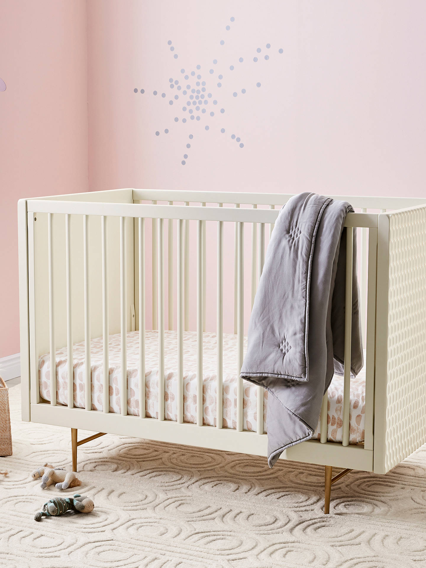 Buy Pottery Barn Kids Audrey Convertible Cotbed, Parchment Online at johnlewis.com