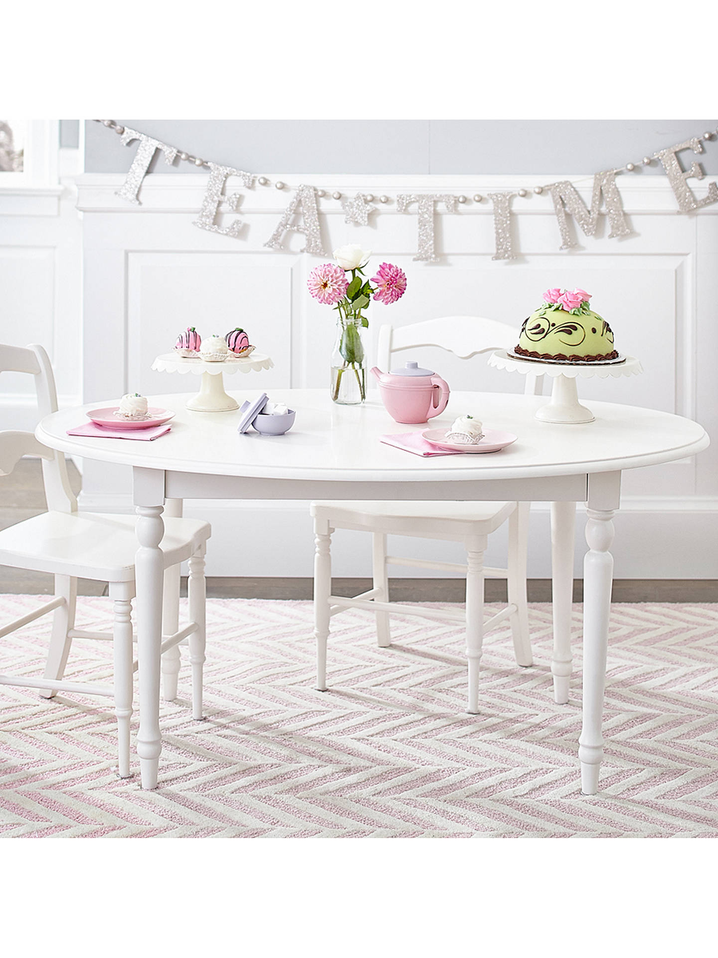 Buy Pottery Barn Kids Finley Play Table, Vintage White Online at johnlewis.com