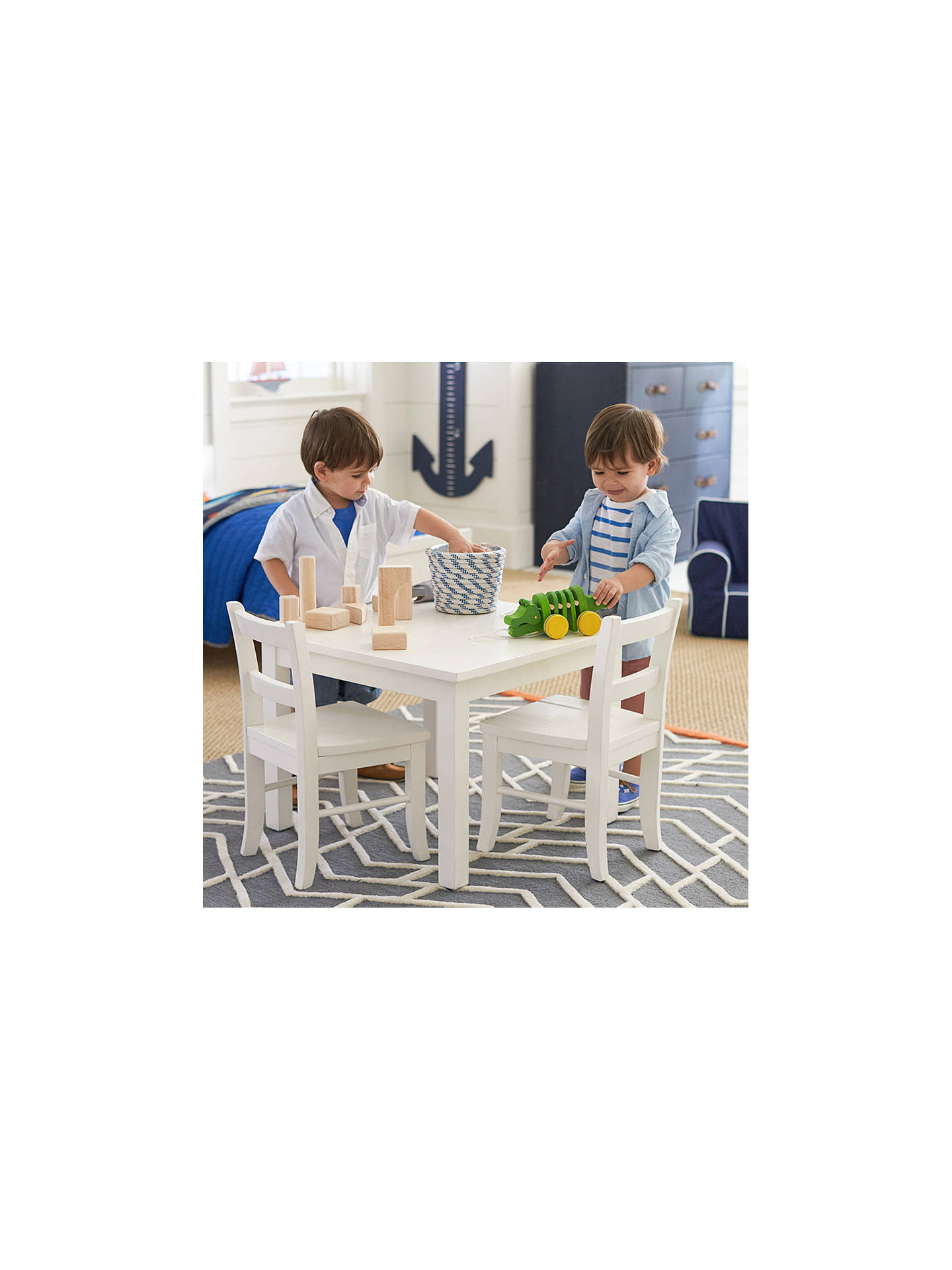 BuyPottery Barn Kids My First Play Table, White Online at johnlewis.com