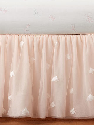 Buy Pottery Barn Kids Monique Lhuillier Tulle Butterfly Crib Skirt, Blush Pink Online at johnlewis.com