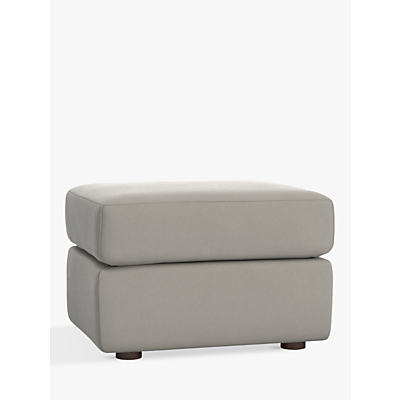 Pottery Barn Kids Graham Performance Basketweave Ottoman, Silver
