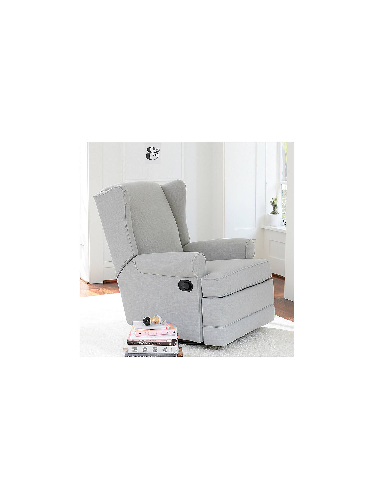 Buy Pottery Barn Kids Wingback Reclining Nursing Chair, Light Grey Online at johnlewis.com