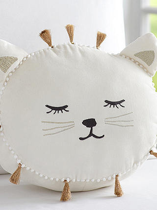Buy Pottery Barn Kids Emily & Meritt Cat Shaped Pillow, White Online at johnlewis.com