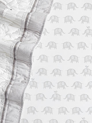 Buy Pottery Barn Kids Taylor Elephant Fitted Crib Sheet, Grey, 70 x 132cm Online at johnlewis.com