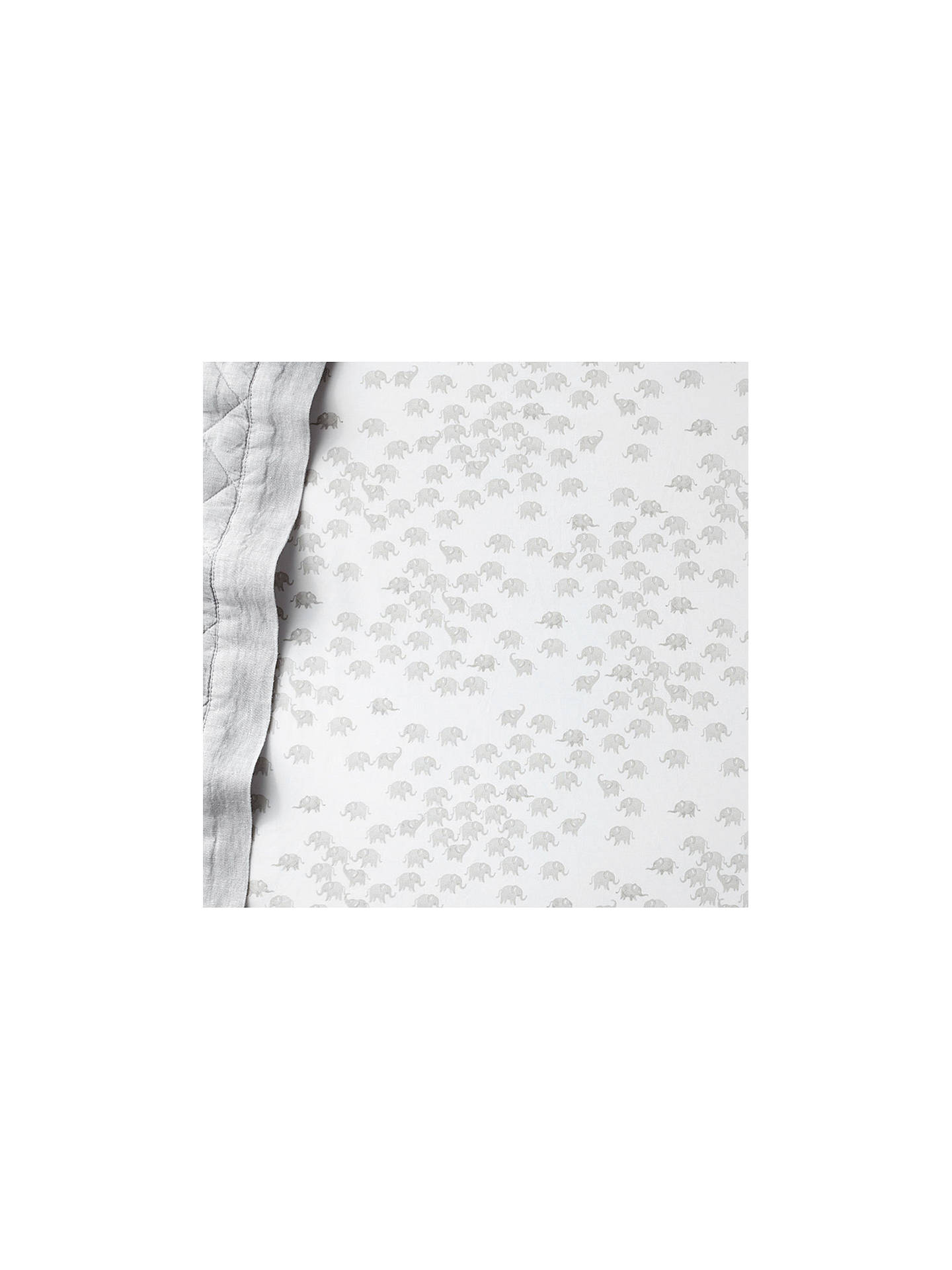 BuyPottery Barn Kids Elephant Print Fitted Cot Sheet, 70 x 132cm, Grey Online at johnlewis.com