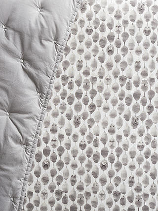 Buy Pottery Barn Kids Owl Print Fitted Cot Sheet, Grey, 31 x 17cm Online at johnlewis.com