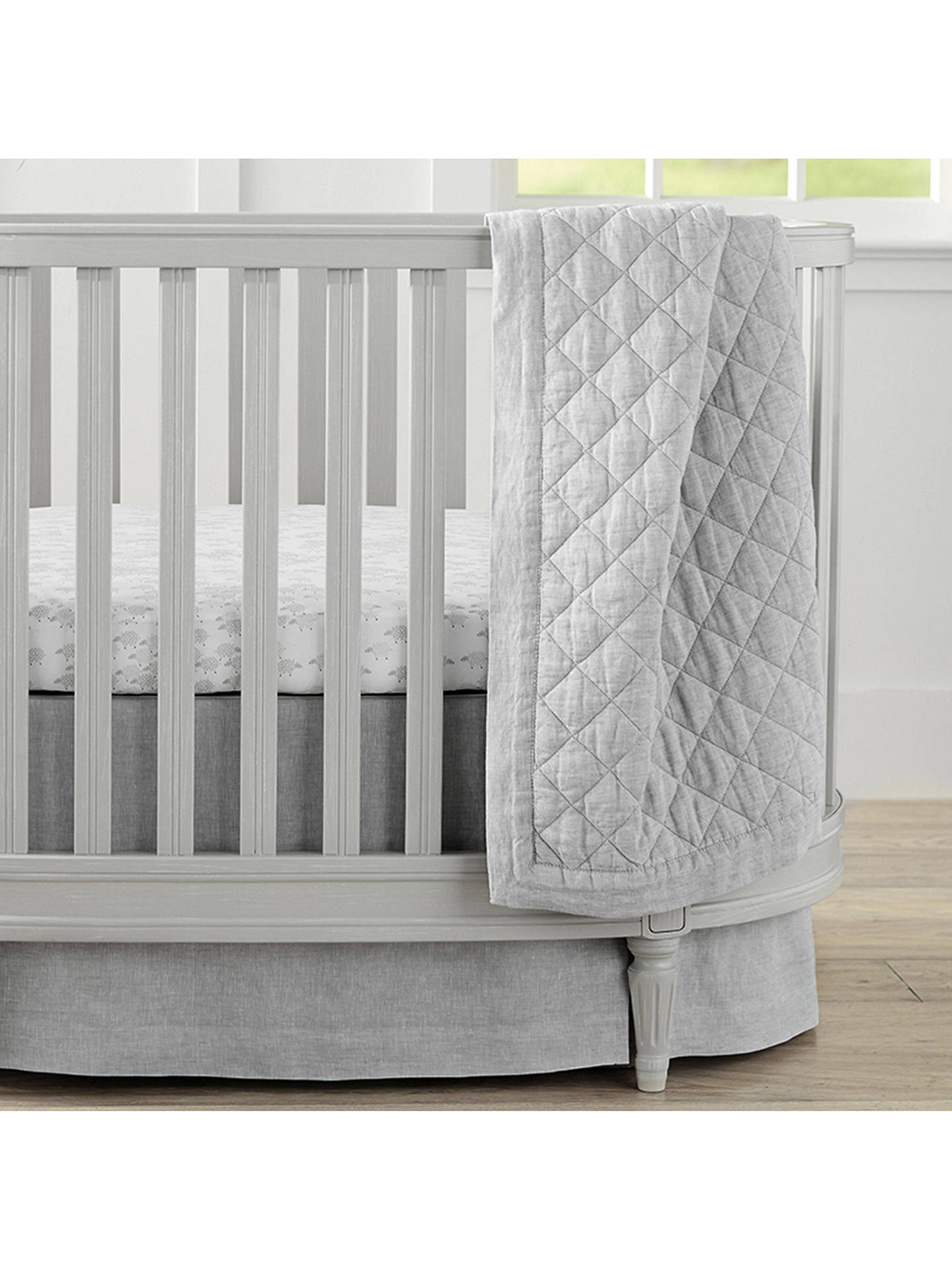 Pottery Barn Kids Linen Toddler Bed Quilt Grey At John Lewis Partners