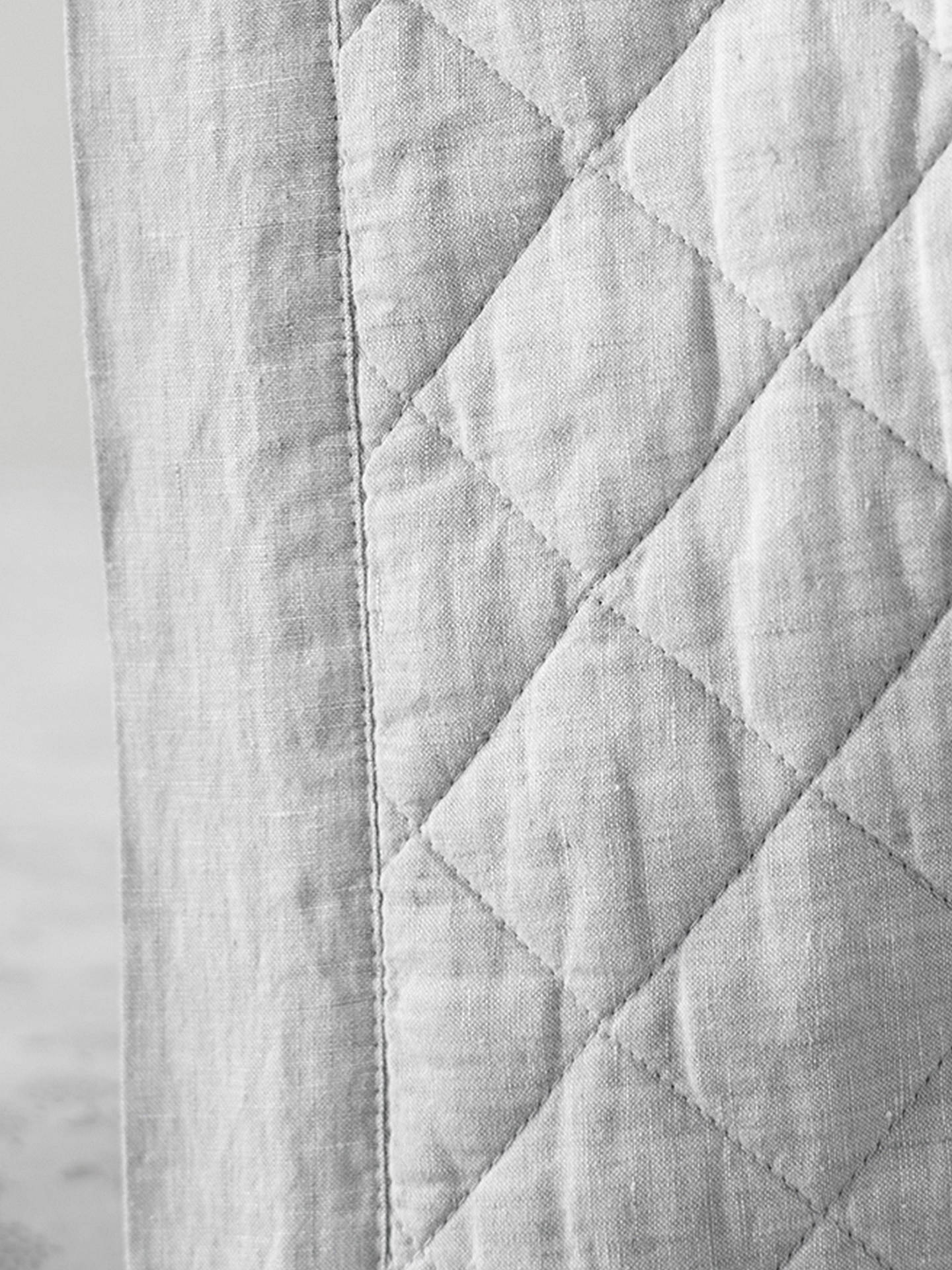 BuyPottery Barn Kids Linen Toddler Bed Quilt, Grey Online at johnlewis.com