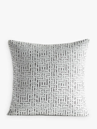 Buy Pottery Barn Kids Velvet Jacquard Cushion Cover, Silver Online at johnlewis.com