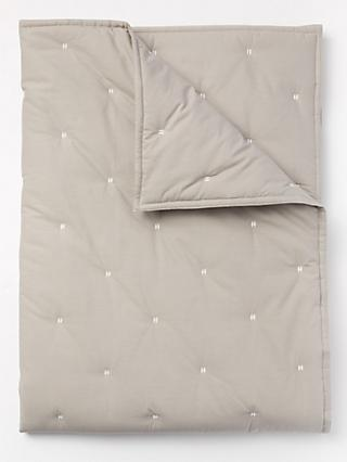 Pottery Barn Kids Organic Cotton Toddler Bed Quilt, Silver