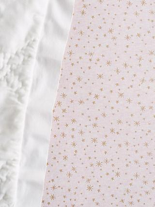 Pottery Barn Kids Metallic Star Print Fitted Crib Sheet, 70 x 132cm
