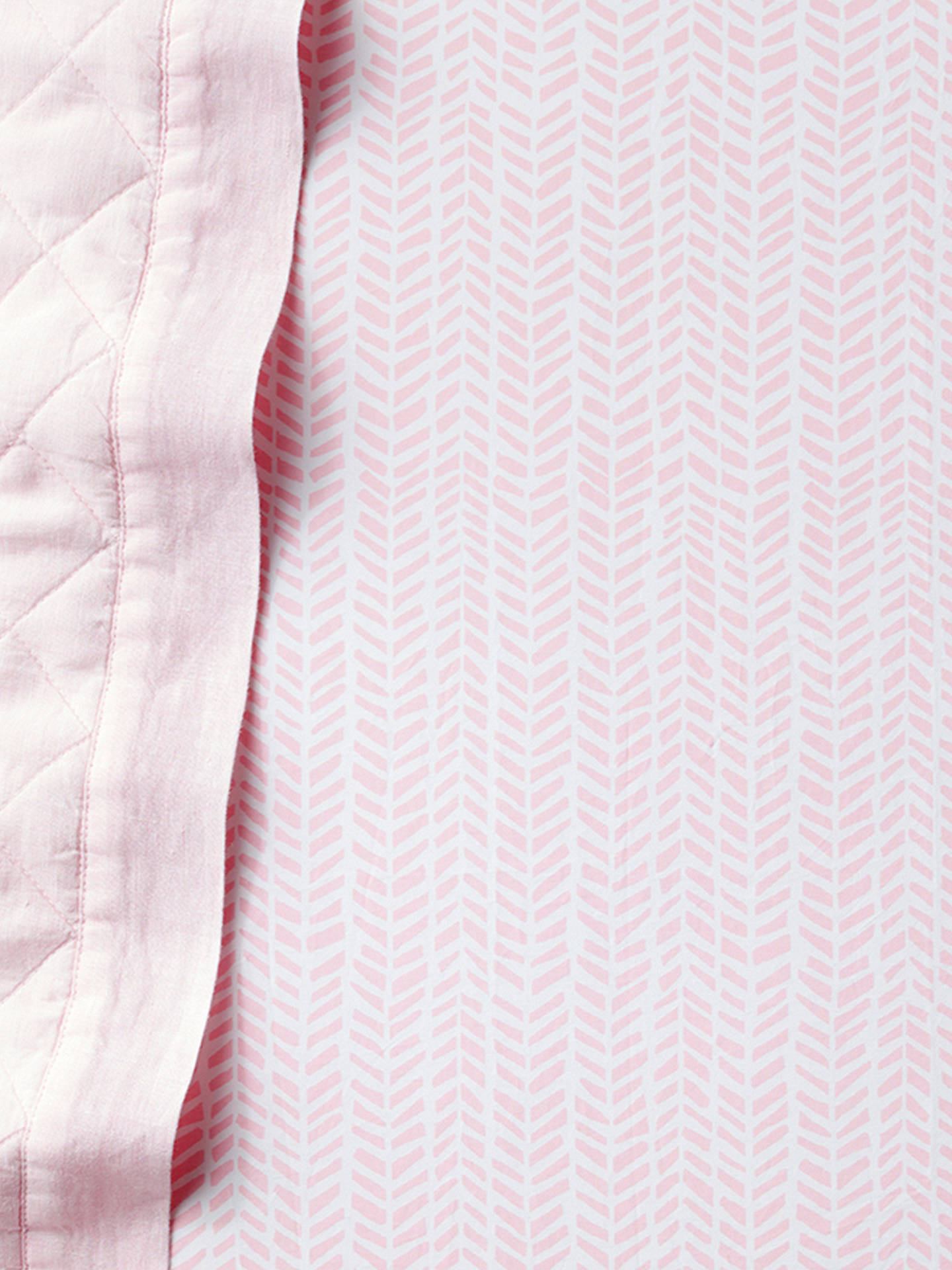 BuyPottery Barn Kids Arrow Print Fitted Cot Sheet, 70 x 132cm, Pink Online at johnlewis.com