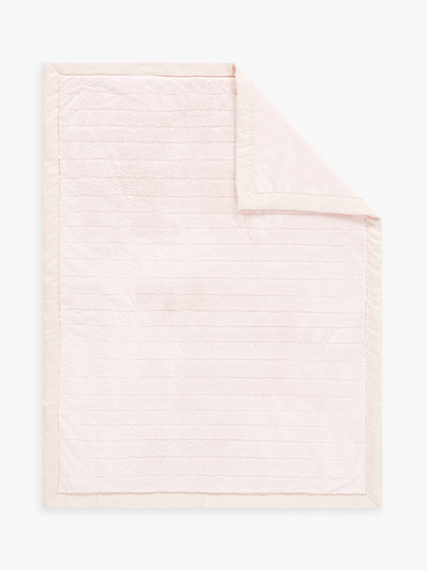 BuyPottery Barn Kids Channel Faux Fur Baby Blanket, Blush Online at johnlewis.com