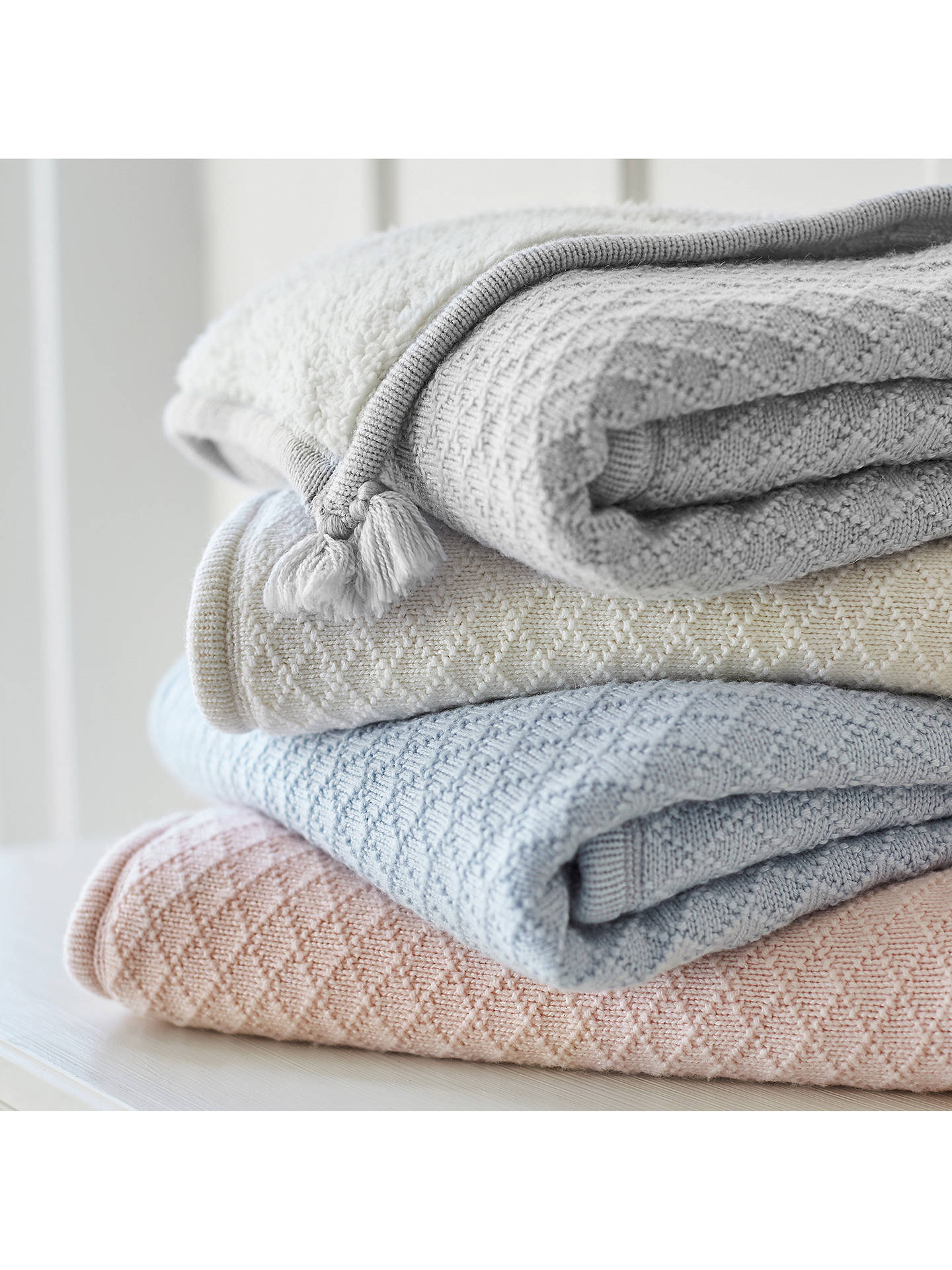 Buy Pottery Barn Kids Luxe Sherpa Baby Blanket, Grey Online at johnlewis.com