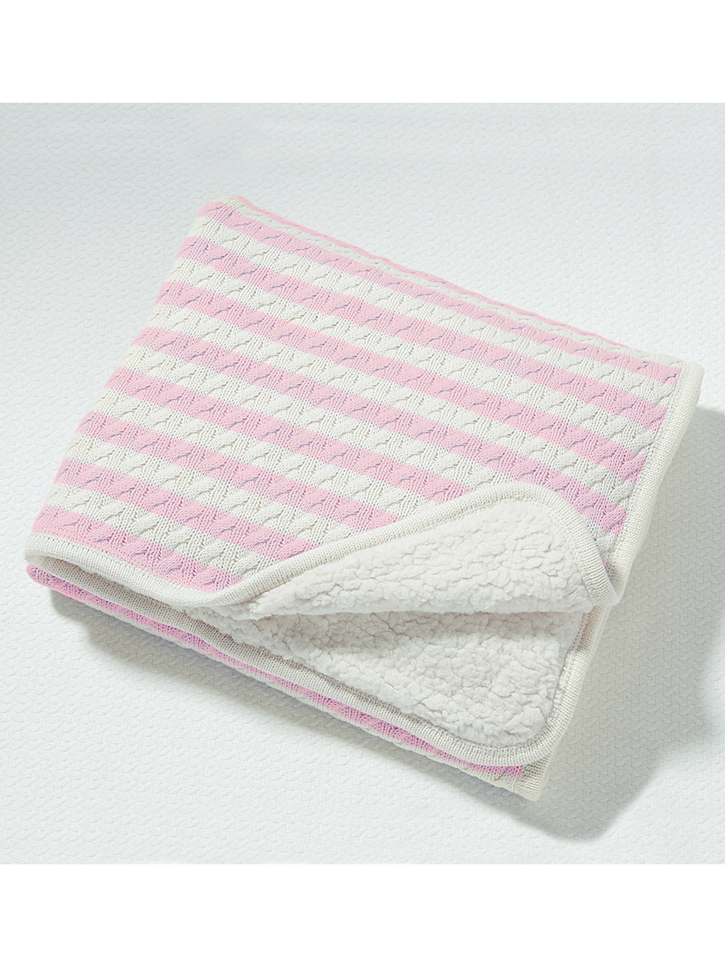 BuyPottery Barn Kids Emerson Baby Blanket, Pink Online at johnlewis.com