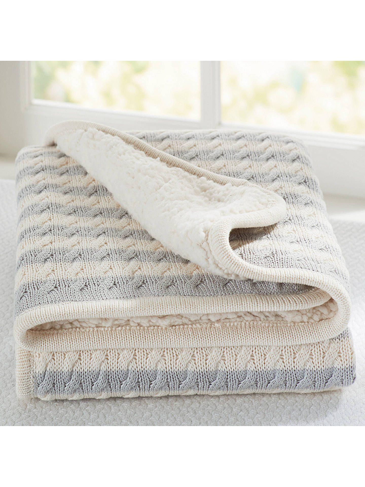 BuyPottery Barn Kids Emerson Baby Blanket, Grey Online at johnlewis.com
