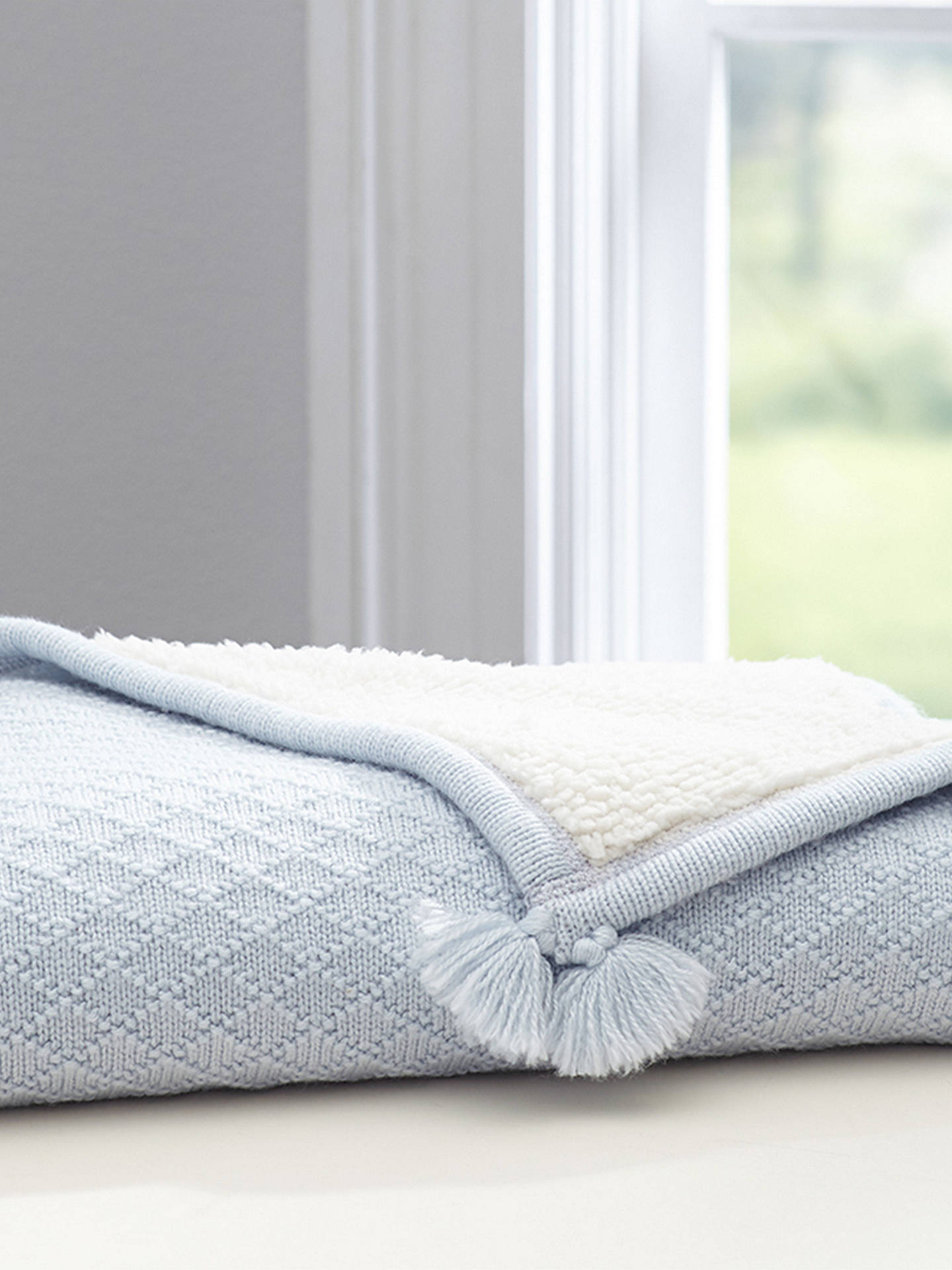 Buy Pottery Barn Kids Luxe Sherpa Baby Blanket, Light Blue Online at johnlewis.com