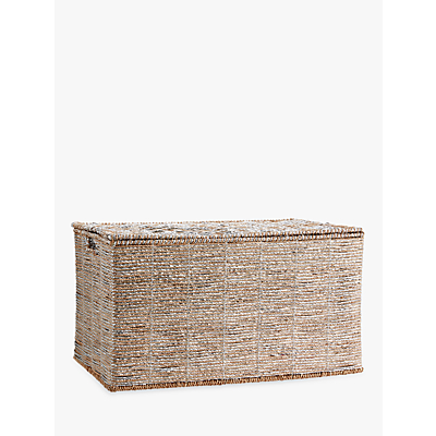 Pottery Barn Kids Rope Toy Chest, Silver