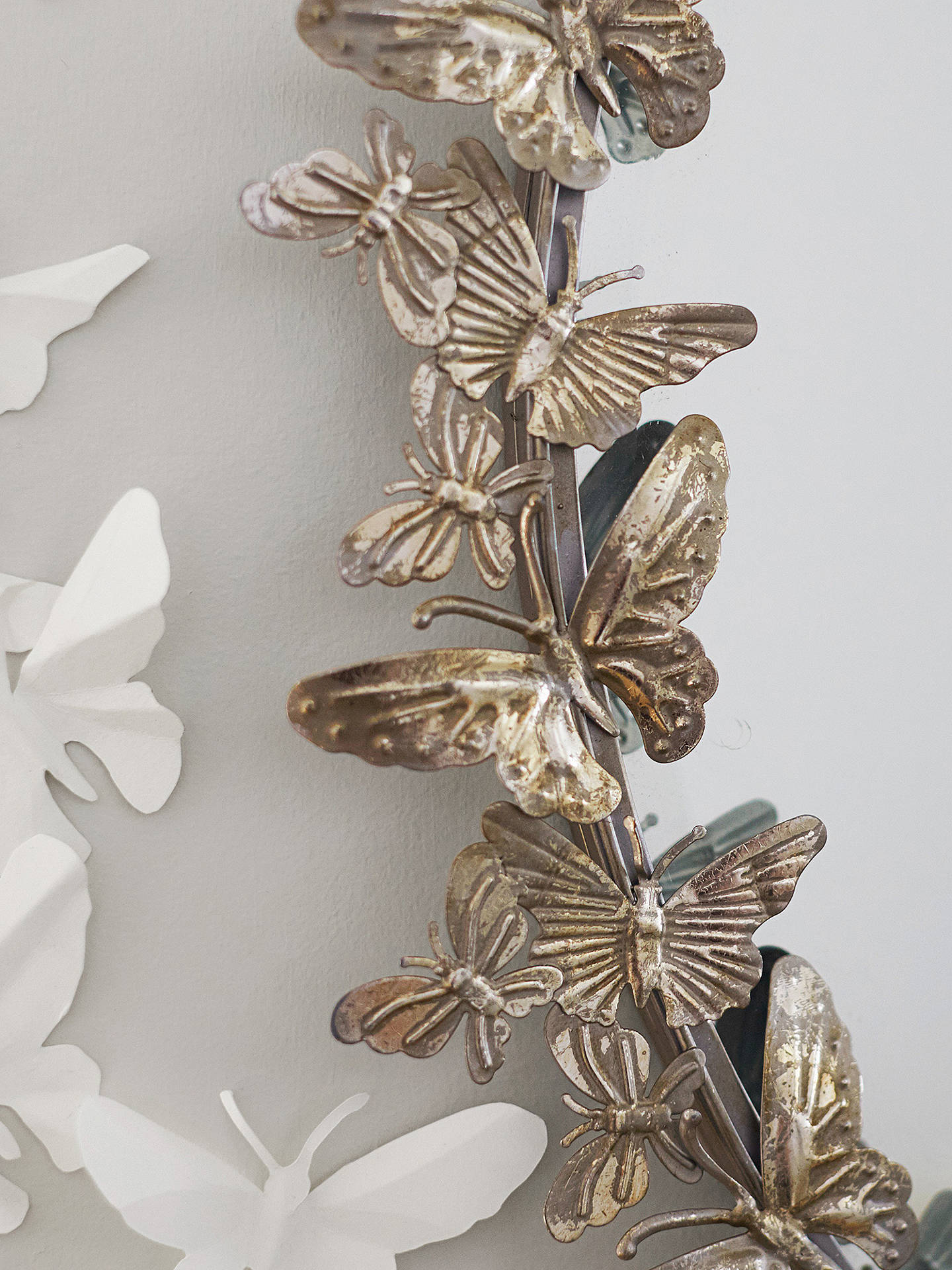 BuyPottery Barn Kids Butterfly Mirror, 90 x 88cm, Silver Online at johnlewis.com