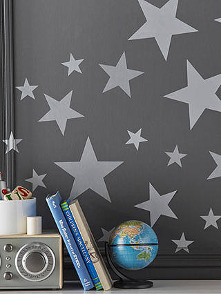 Buy Pottery Barn Kids Star Wall Decals, Silver Online at johnlewis.com
