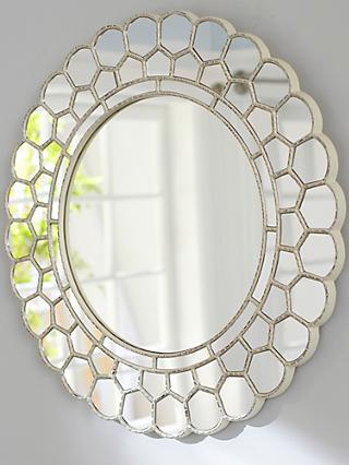 Pottery Barn Kids Circle Blossom Mirror, 73.6 x 74.9cm, Silver