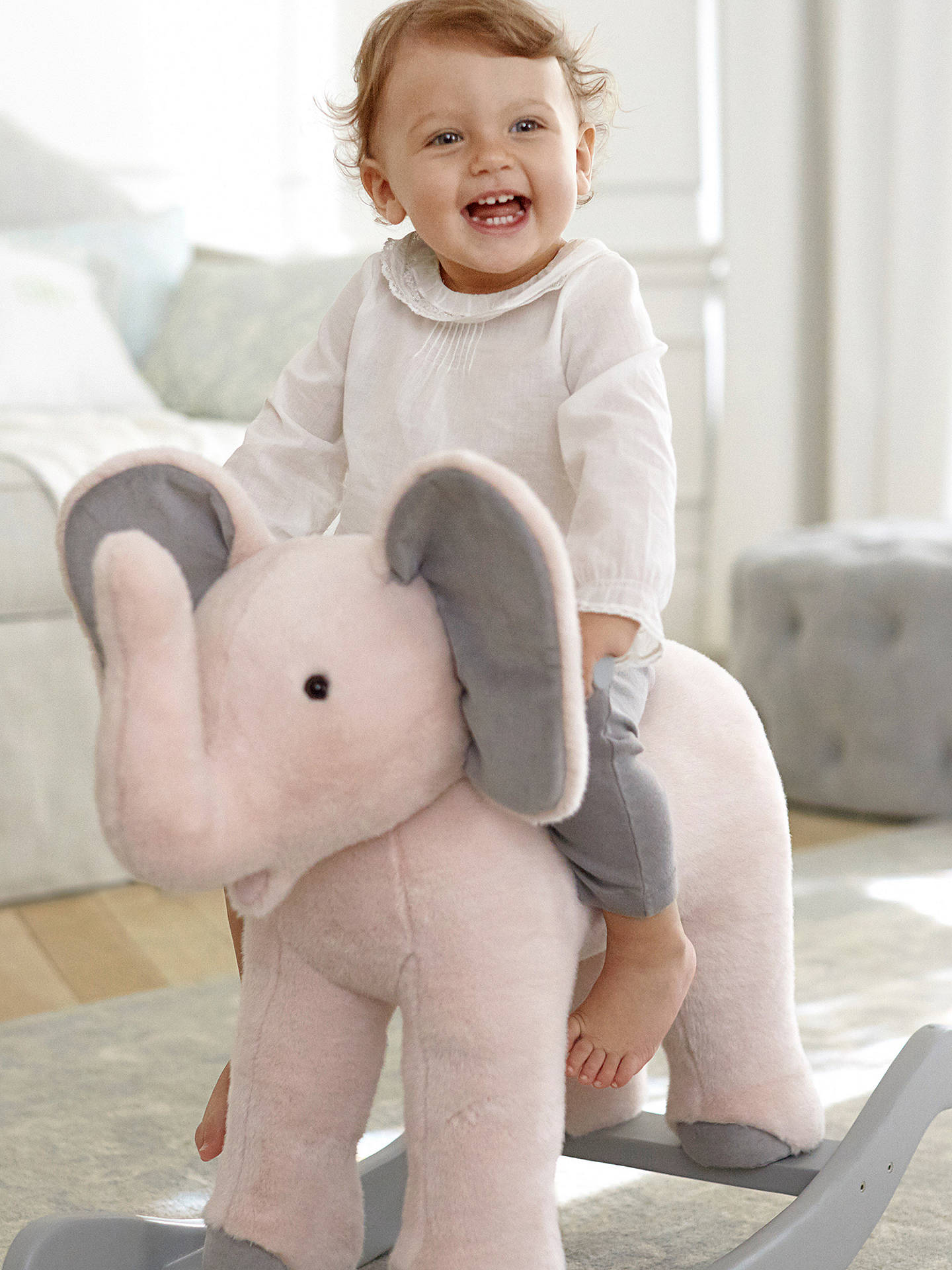 Buy Pottery Barn Kids Monique Lhuillier Plush Rocking Elephant Online at johnlewis.com