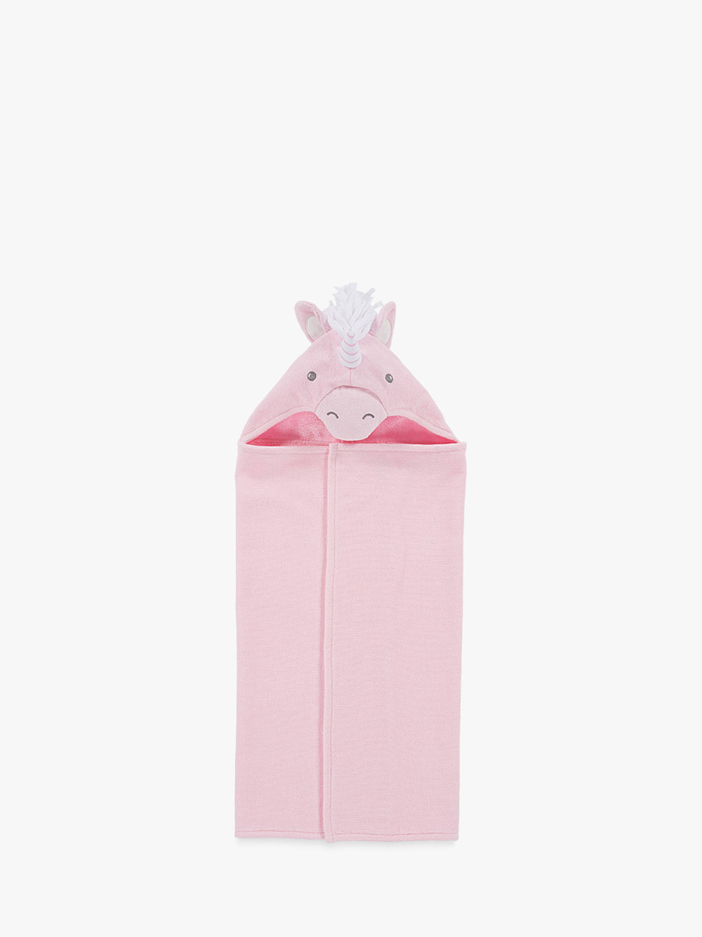 Buy Pottery Barn Kids Unicorn Critter Hooded Bath Towel, Pink Online at johnlewis.com