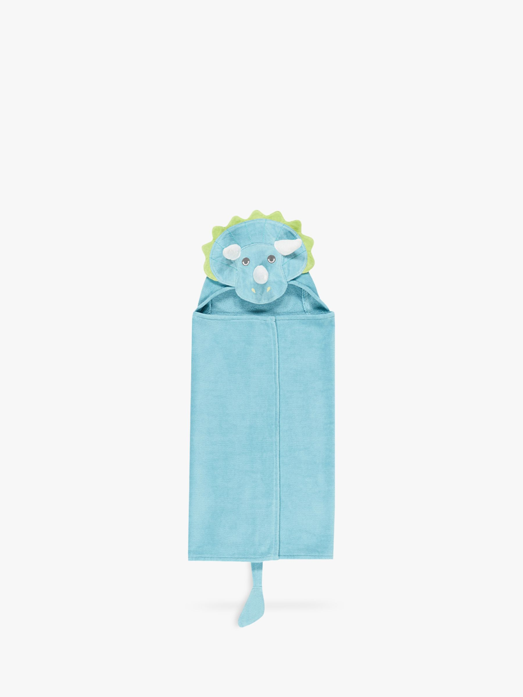Pottery Barn Kids Dinosaur Critter Hooded Bath Towel, Blue