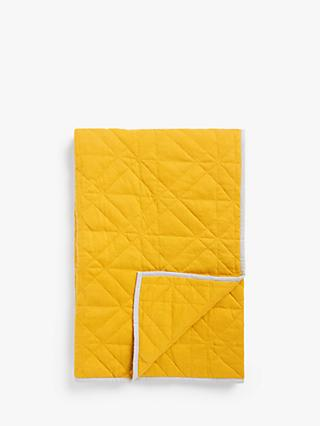little home at John Lewis Harper Quilted Throw, Yellow