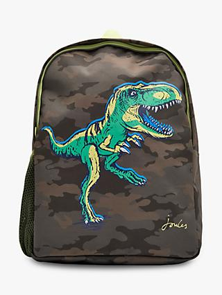 Joules Children's Camouflage Dinosaur Backpack