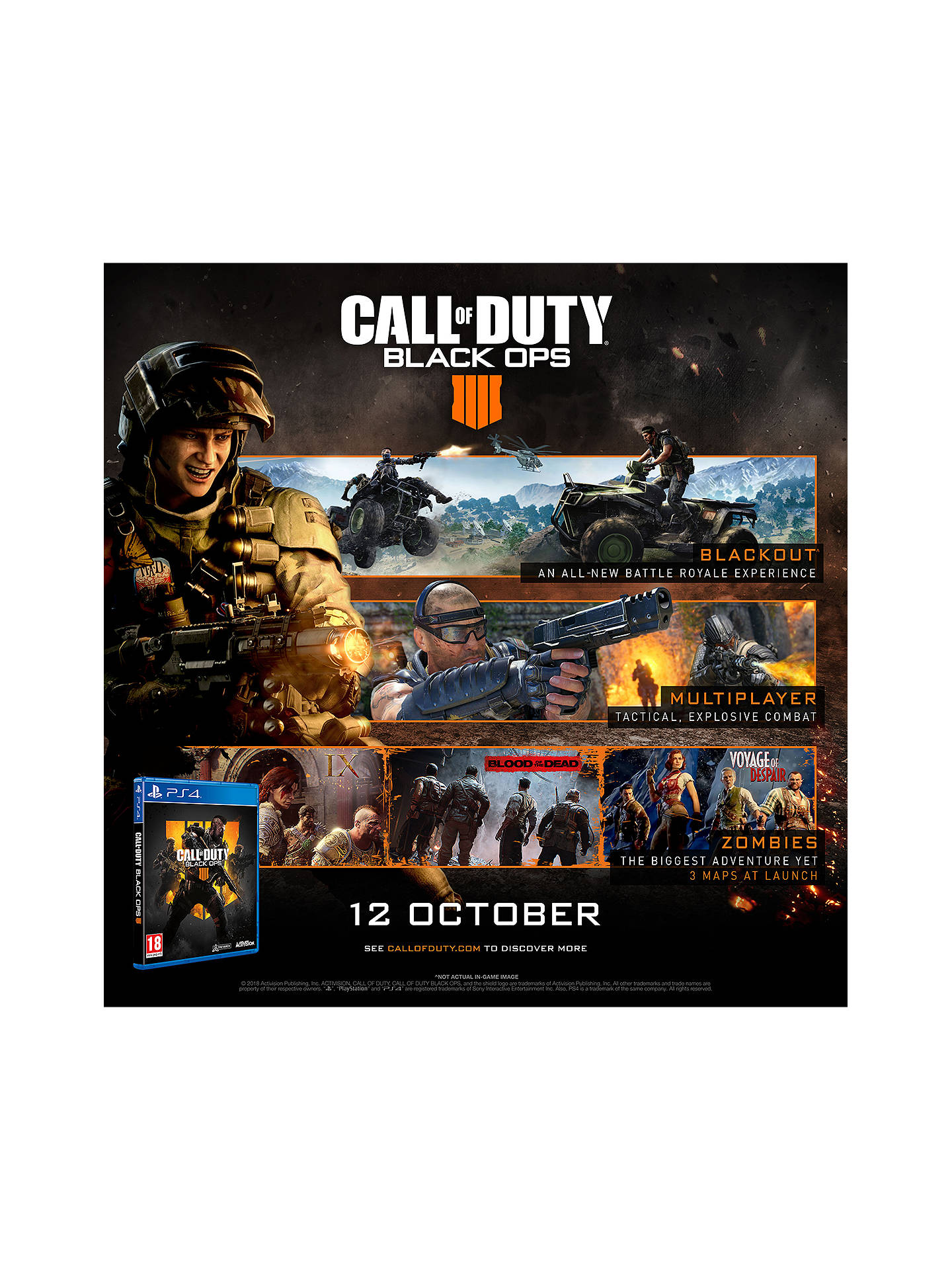 Buy Call of Duty: Black Ops 4, PS4 Online at johnlewis.com