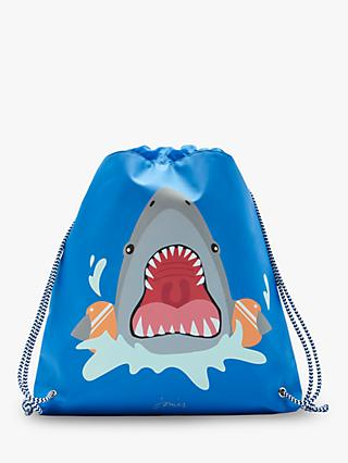 Little Joule Children's Shark Drawstring Bag