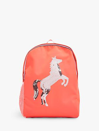 Joules Children's Sequin Horse Backpack