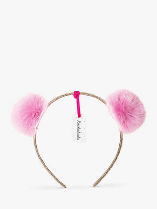 Buy Rockahula Children's Pom Pom Headband, Pink/Gold Online at johnlewis.com