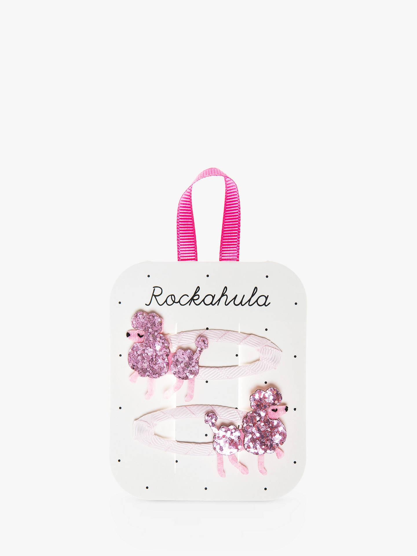 Buy Rockahula Children's Poodle Glitter Hair Clips, Pack of 2, Pink Online at johnlewis.com
