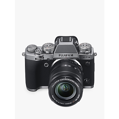 Fujifilm X-T3 Compact System Camera with XF 18-55mm IS Lens, 4K Ultra HD, 26.1MP, Wi-Fi, OLED EVF, 3� LCD Touch Screen