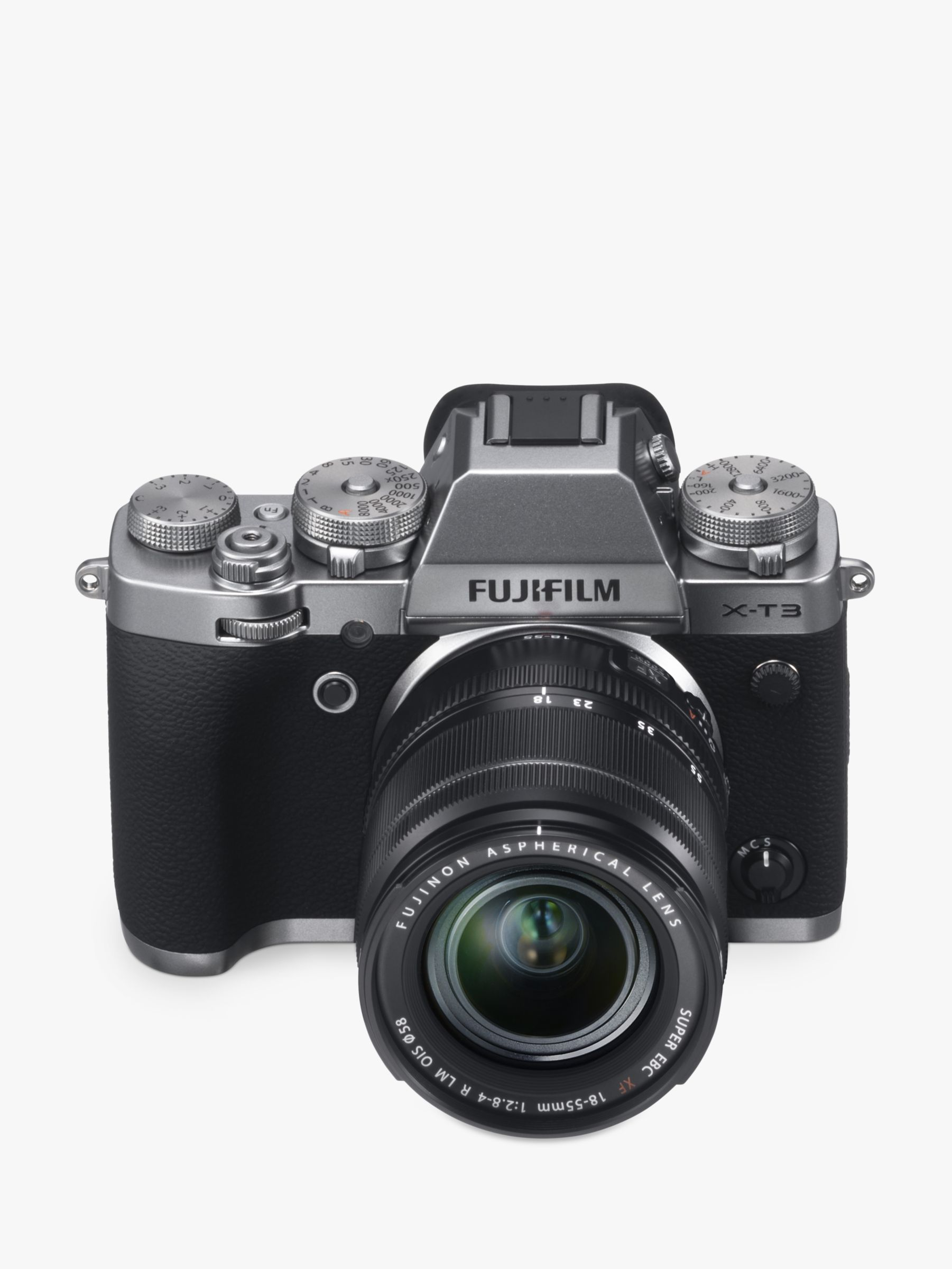 "Fujifilm Fujifilm X-T3 Compact System Camera with XF 18-55mm IS Lens, 4K Ultra HD, 26.1MP, Wi-Fi, OLED EVF, 3"" LCD Touch Screen"