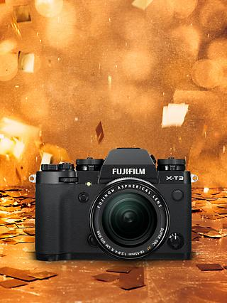 "Fujifilm X-T3 Compact System Camera with XF 18-55mm IS Lens, 4K Ultra HD, 26.1MP, Wi-Fi, OLED EVF, 3"" LCD Touch Screen"